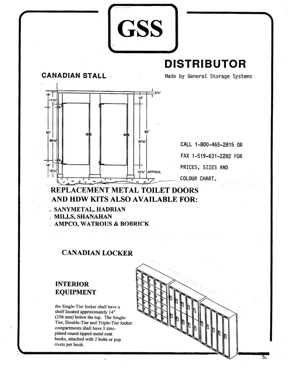 Gss canadian stall canadian locker overview toilet for Knickerbocker bathroom partitions
