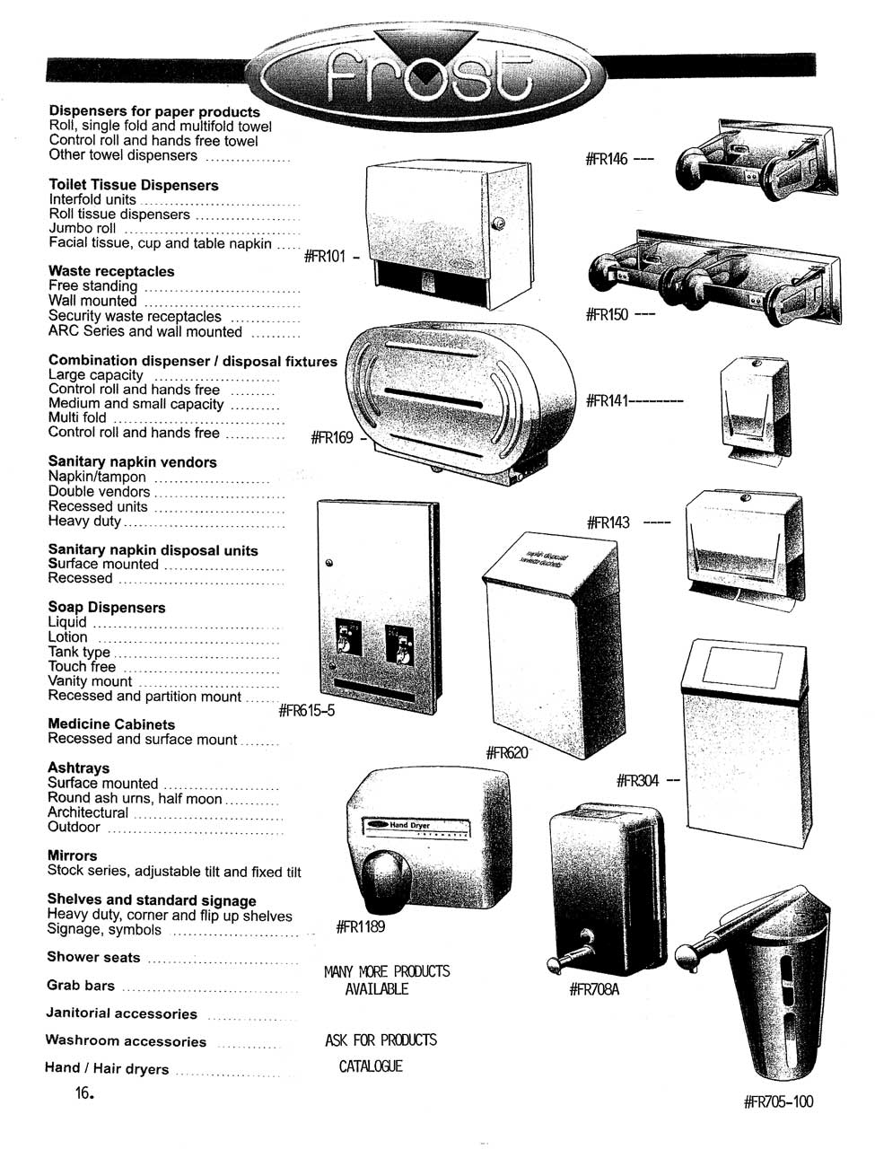 Frost Dispensers And Washroom Accessories Toilet