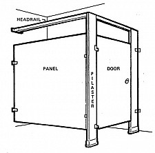 Toilet partition replacement hardware parts diagram