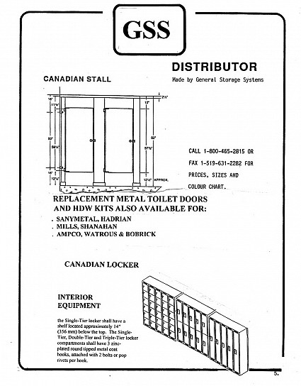 Gss canadian stall canadian locker overview toilet partition hardware from wielhouwer - Hadrian partition hardware ...